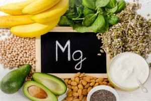 Products,Containing,Magnesium.,Healthy,Eating.,Top,View